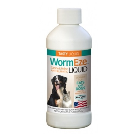 Durvet WormEze Liquid for Dogs and Cats  8oz