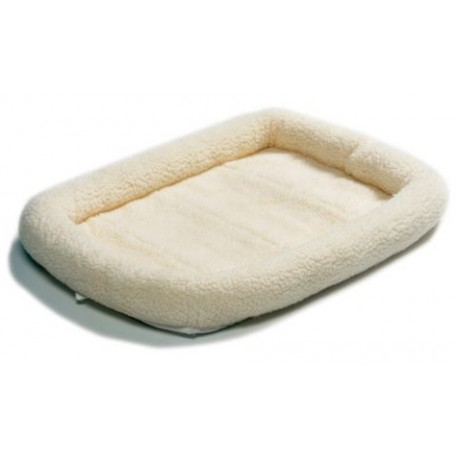Pet Cream Fleece Bed MEDIUM 29""
