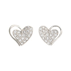 ER2512 Heart Print Earrings