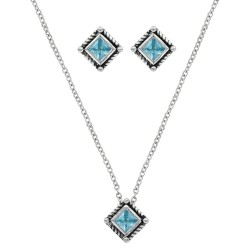 JS3024BL Roped Blue Star Lights Jewelry Set