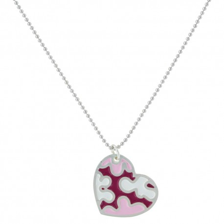 NC2818 Camoflaged in Love Heart Necklace