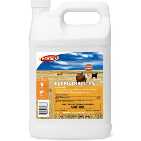 Control Solutions Permethrin 1% Pour-On Gallon