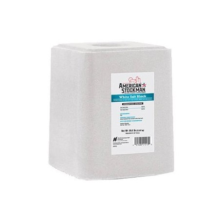 Compass Minerals American Stockman Salt Block White Am Stkm 50lb
