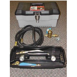 The Iron Propane Dehorner KIT with 2 dehorning tips small and large