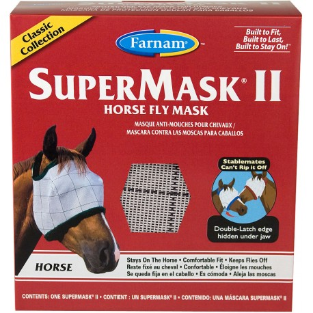 SuperMask II Fly Mask -  Horse size