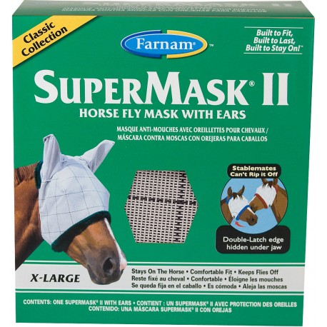 SuperMask II Fly Mask w/ears - Xlg