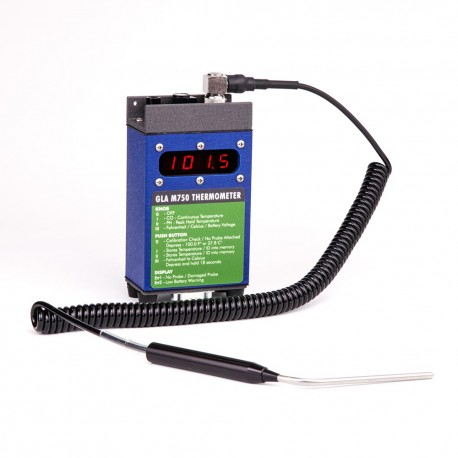 "GLA Thermometer M750 &  4"" Right Angled Probe"