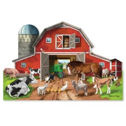 Puzzle - Busy Barnyard 32pc