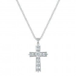 NC3251 Brillance Cross Necklace