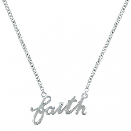 NC3182 Faith Word Necklace
