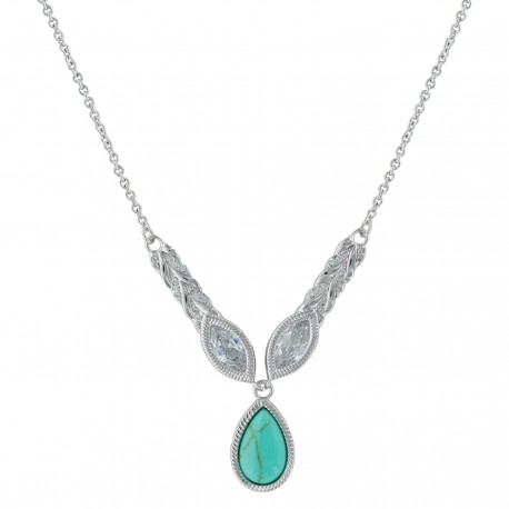NC3413 Oval Woven Lights Necklace