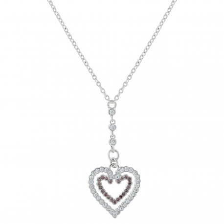 NC3400 Heart in Heart Filling up on Love Necklace
