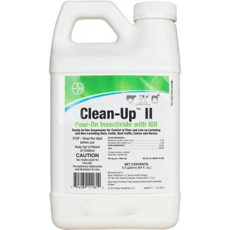 clean up ii insecticide pour on 1 2 gallon. Black Bedroom Furniture Sets. Home Design Ideas
