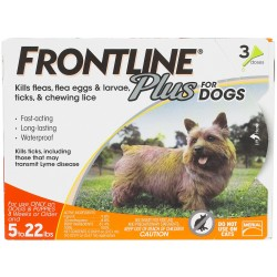 Frontline Plus Dog 0 to 22lbs 3ds and 6ds