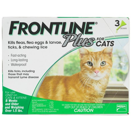 Frontline Plus for Cats and Kittens 3ds and 6ds