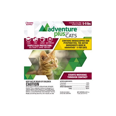 Adventure Plus for Cats 5-9lbs 4pk