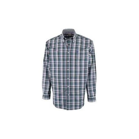 Cinch Men's Classic Fit Long Sleeve Multi Colored Plaid Shirt