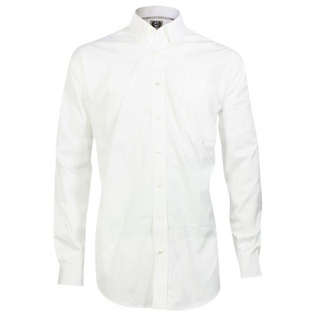 Cinch Men's Classic Fit Long Sleeve Solid White Shirt