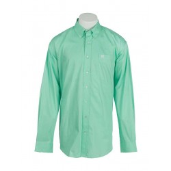 Cinch Men's Classic Fit Long Sleeve Solid Green Shirt