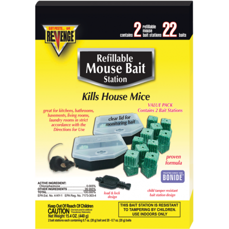Revenge Mouse Bait Station Refillable 22ct