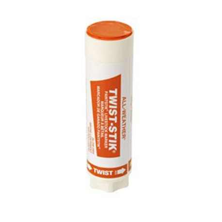 Livestock Markers Twist Sticks ORANGE 12ct