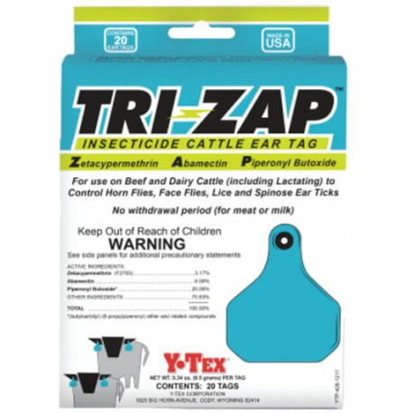 Tri-Zap Insecticide Tags