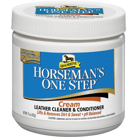 Horseman's One Step Cream Leather Cleaner & Conditioner
