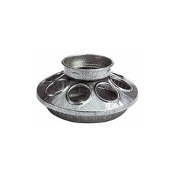 Poultry Mason Bases-Galvanized Steel