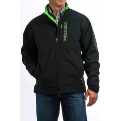 Cinch Jacket Men's Bonded Black with Green
