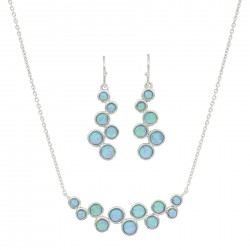 JS3850 River of Lights Opal Bubble Jewelry Set