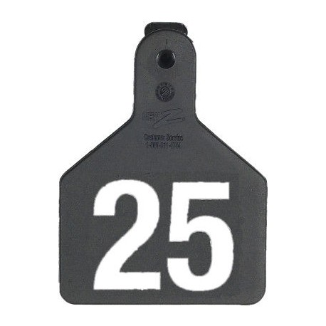 Z Tag No Snag Calf ID Tag - Numbered - Black