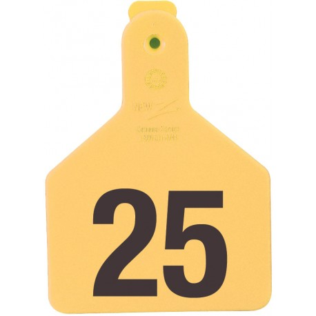 Z Calf Yellow Numbered