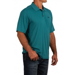 Cinch Arenaflex Men's Polo Shirt Turquoise