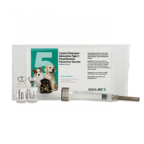 Solo Jec 5 Plus with syringe Canine vaccine