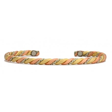 Sergio Lub Copper Magnetic Bracelet Nepalese Cord