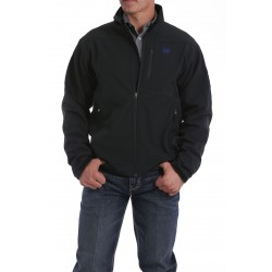 Cinch Jacket Men's Bonded Black with Blue Emblem