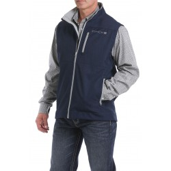 Cinch Vest Men's Texted Bonded Navy/Gray