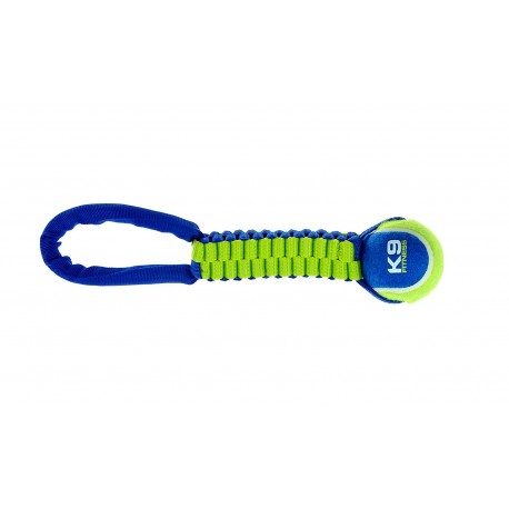 Zeus K9 Fitness Tennis Ball Tug Rope Dog Toy