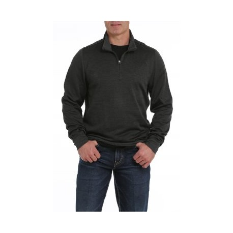 Cinch Men's Black Pullover Sweater 1/4 Zip