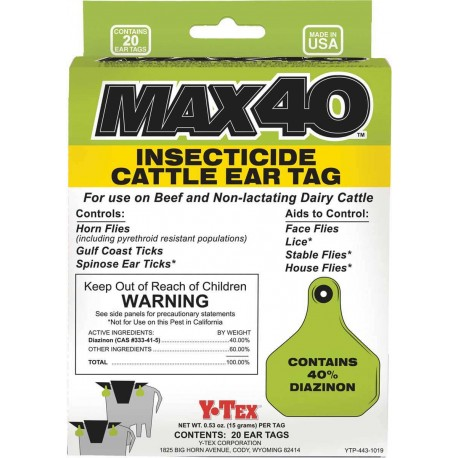 Max40 Insecticide Tags