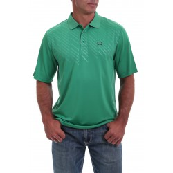 Cinch Arenaflex Men's Polo Shirt Embossed Green