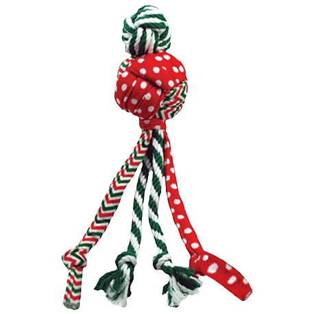 Kong Wubba Holiday Weave Rope Dog Toy