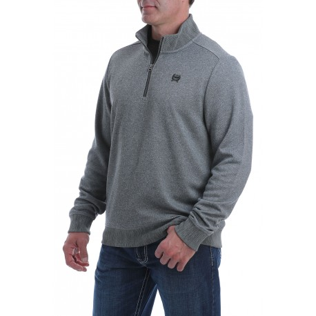 Cinch Men's Gray Pullover Sweater Fleece 1/4 Zip