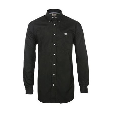 Cinch Men's Classic Fit Long Sleeve Solid Black Shirt