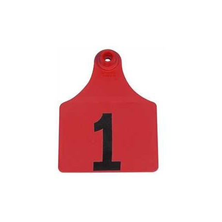 Allflex Global Maxi Numbered Tags RED 25ct
