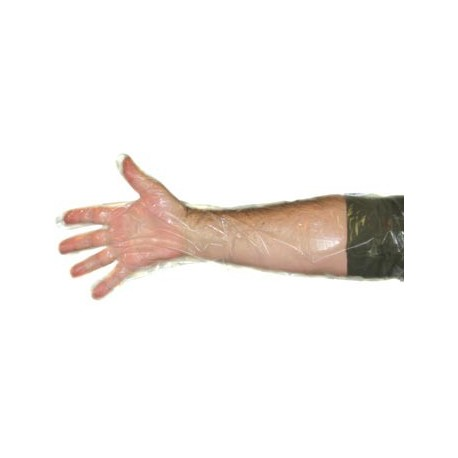 Gloves Shoulder Length 1.25mil-Polyethylene-Clear 100ct
