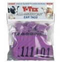 Y-Tex Large Cattle Tag Purple Numbered