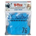 Y-Tex Large Tag Numbered Blue