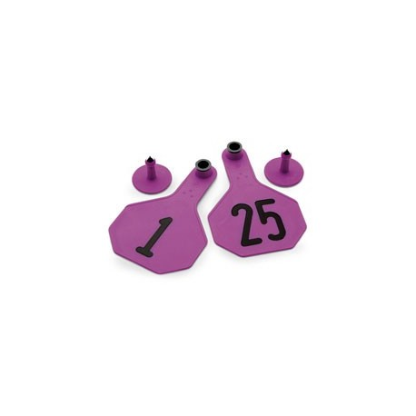 Y-Tex Medium Cattle Tag Purple Numbered