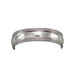 BC61517PK Polished Dome with Pink CZ Bracelet